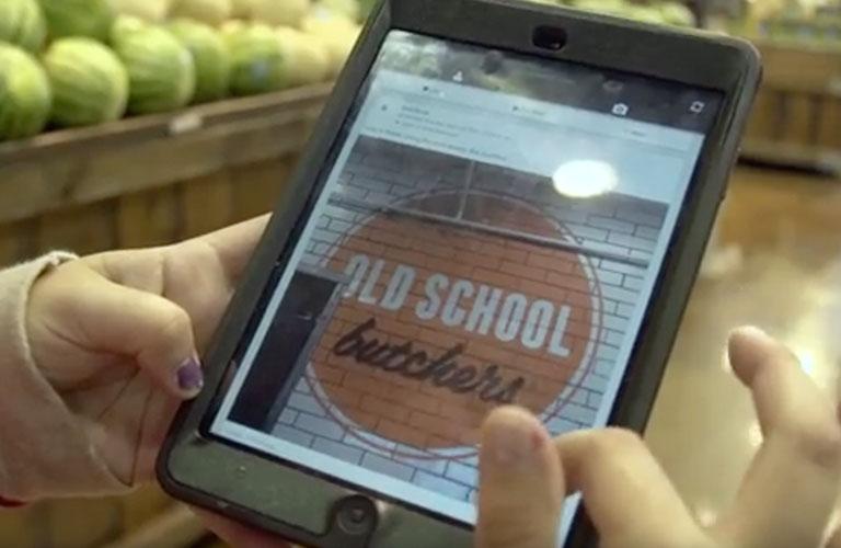 iPad at whole foods